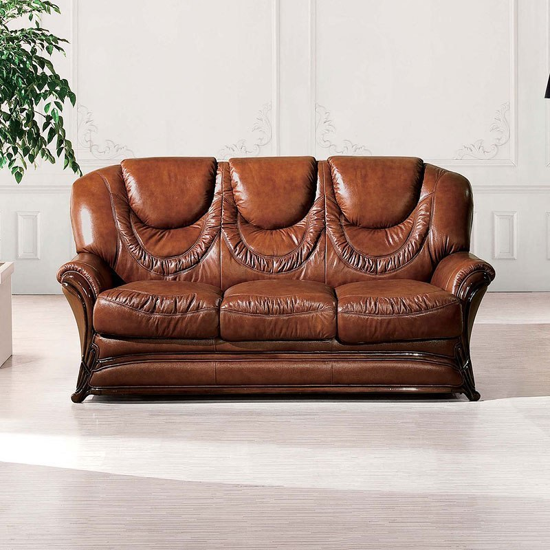 67 Italian Leather Sleeper Sofa