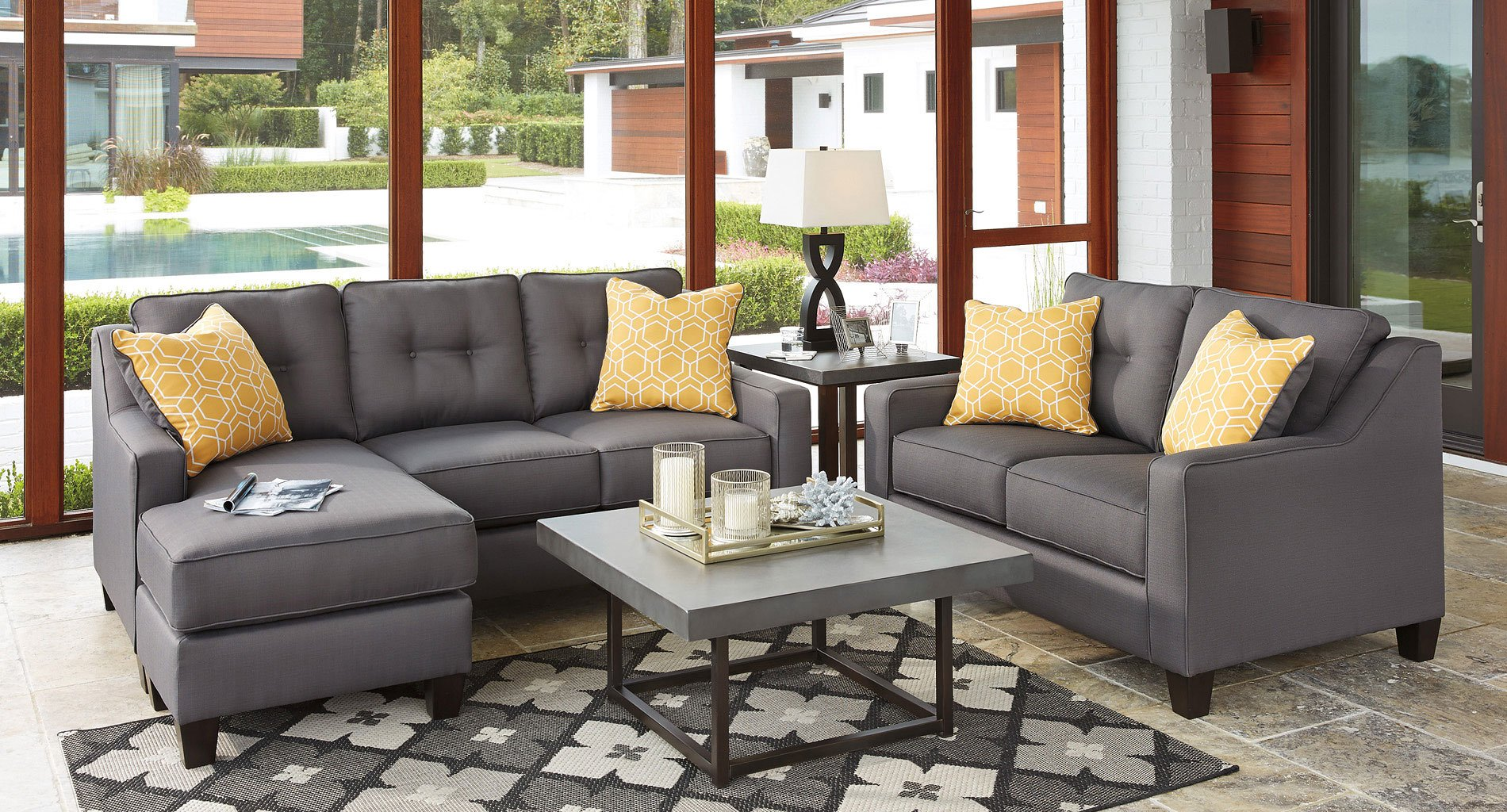 Aldie Nuvella Gray Living Room Set By Benchcraft 1 Review