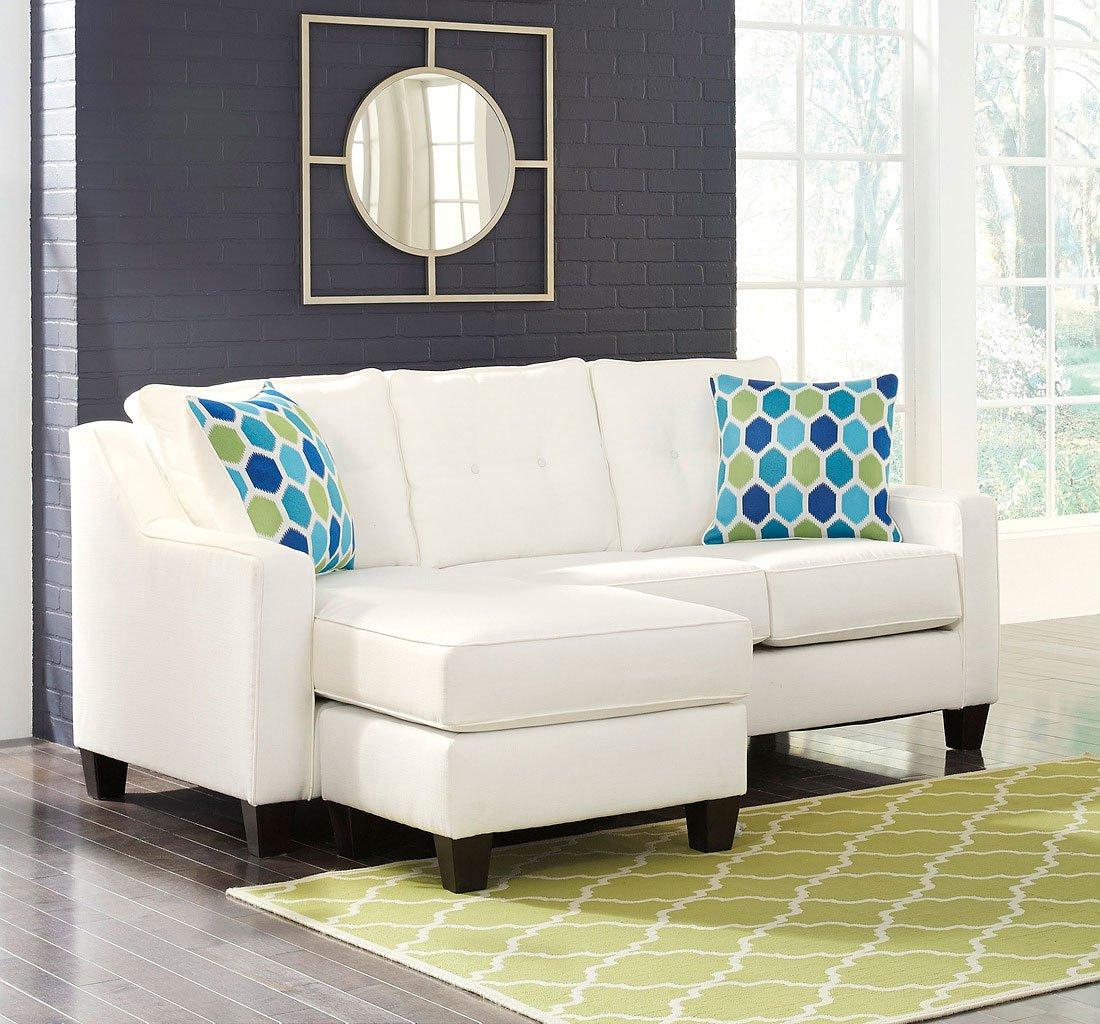 Aldie Nuvella White Sofa Chaise By Benchcraft Furniturepick