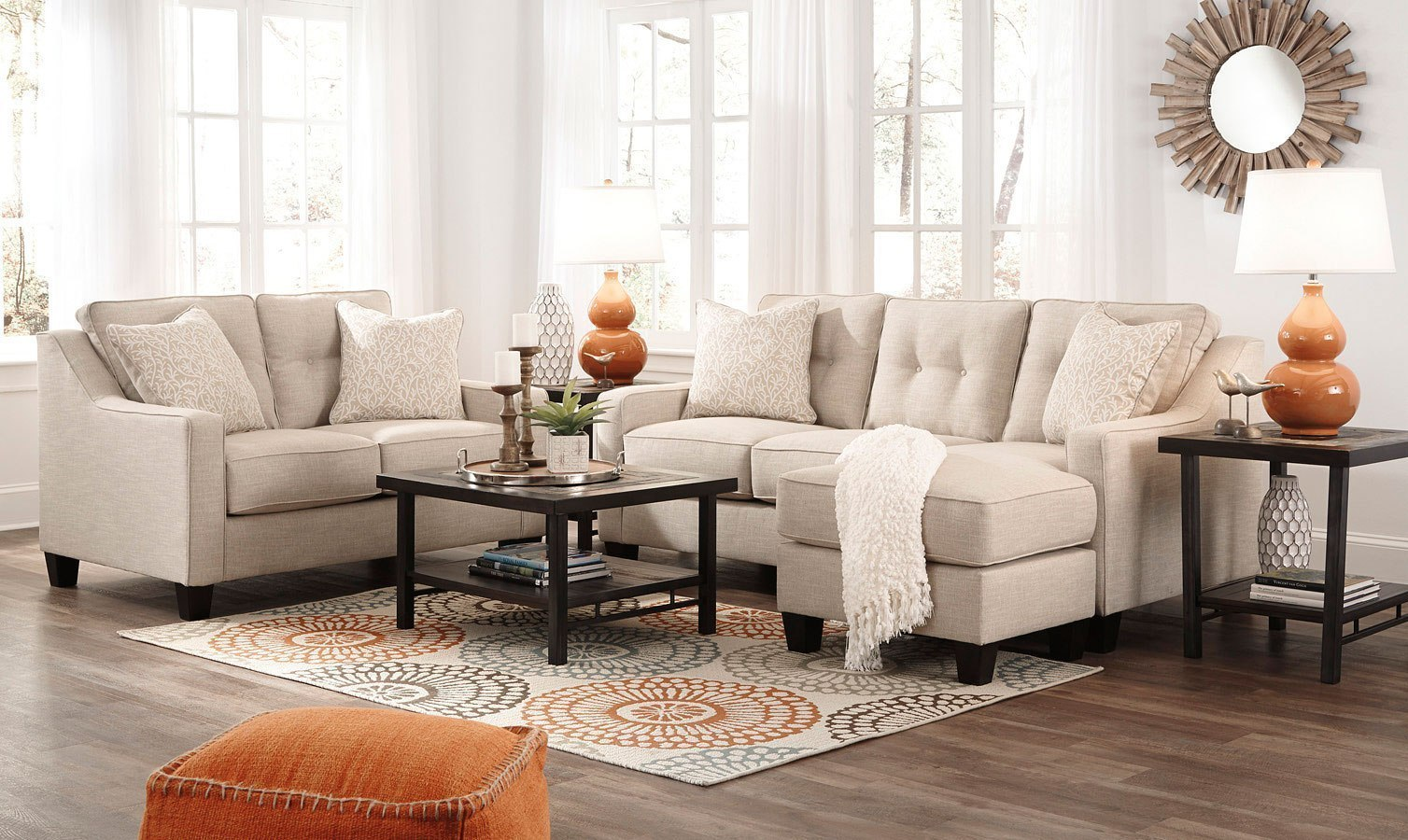 Aldie Nuvella Sand Living Room Set By Benchcraft 1 Review