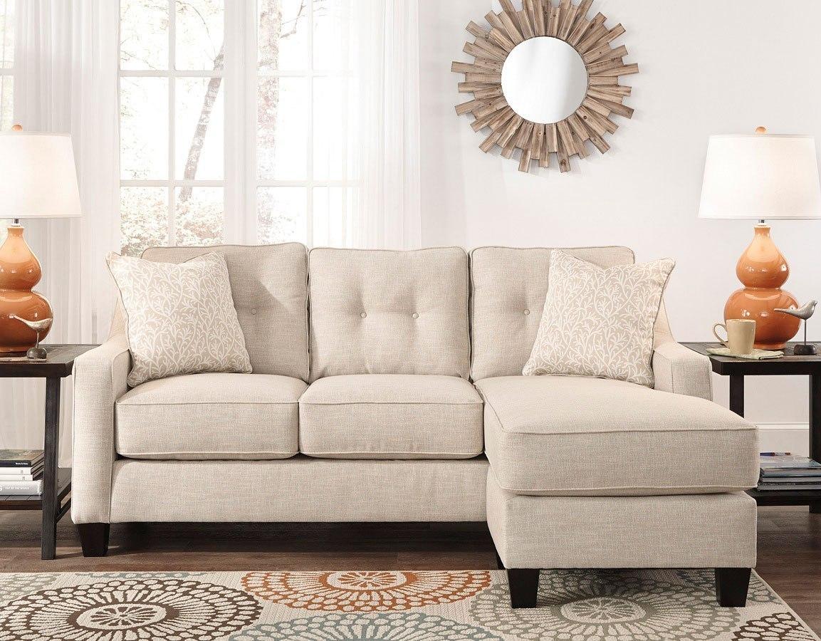 Aldie Nuvella Sand Sofa Chaise By Benchcraft Furniturepick