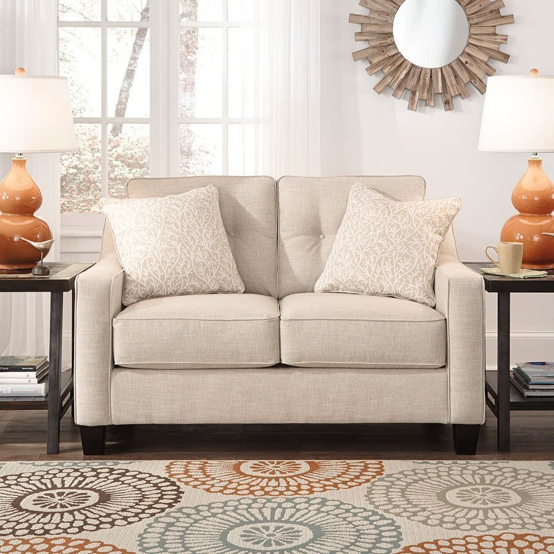 Aldie Nuvella Sand Loveseat By Benchcraft Furniturepick