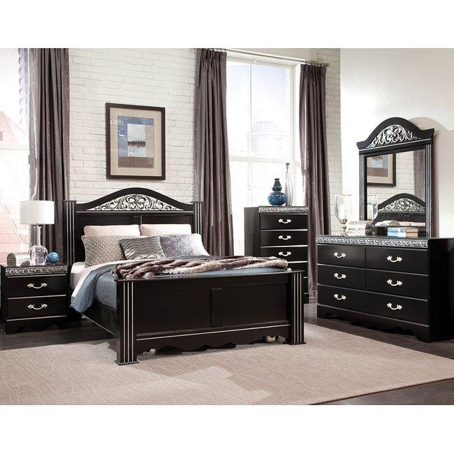 Odessa Poster Bedroom Set (Black) by Standard Furniture | FurniturePick