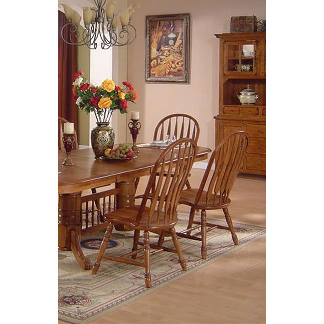 Yorkshire Side Chair Set Of 2 Burnished Oak By ECI Furniture