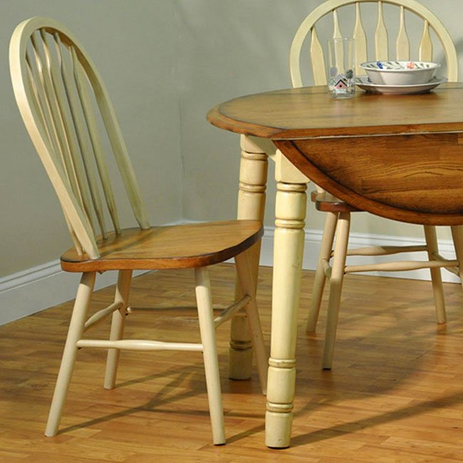 Antique Oak Dining Room Furniture: Farm House Dining Room Set W/ Round Table (Rustic Oak