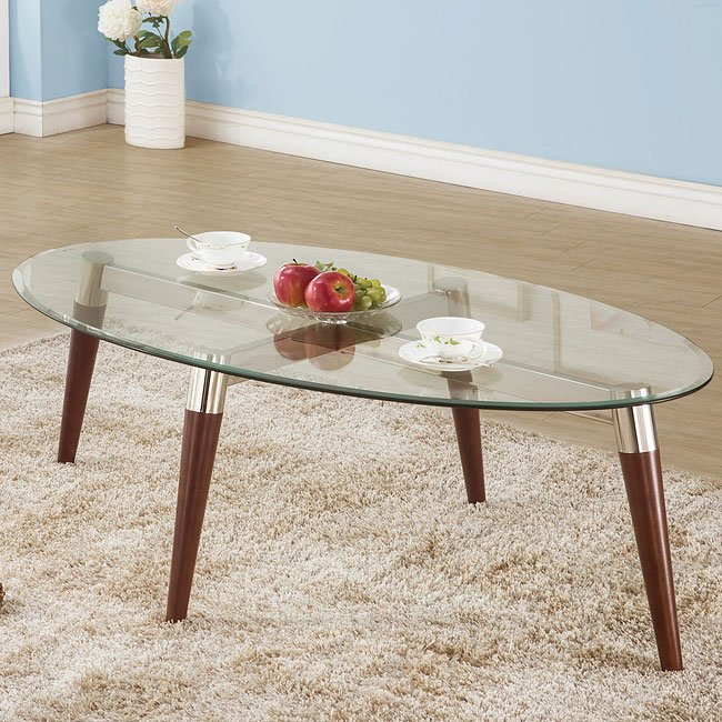 Oval Glass Top Coffee Table Coffee And Cocktail Tables