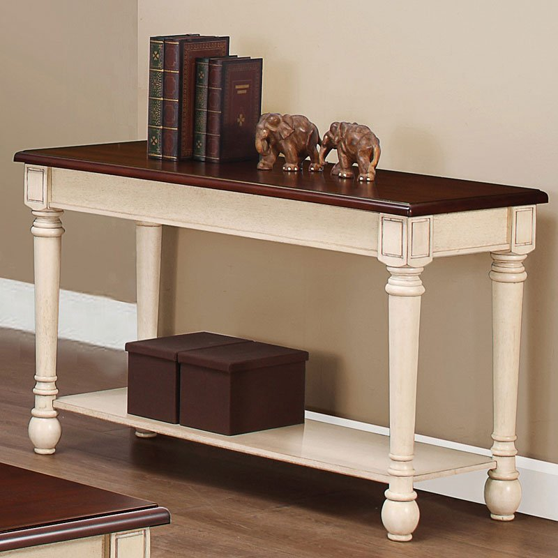 Two Tone Sofa Table Sofa Tables Occasional And Accent
