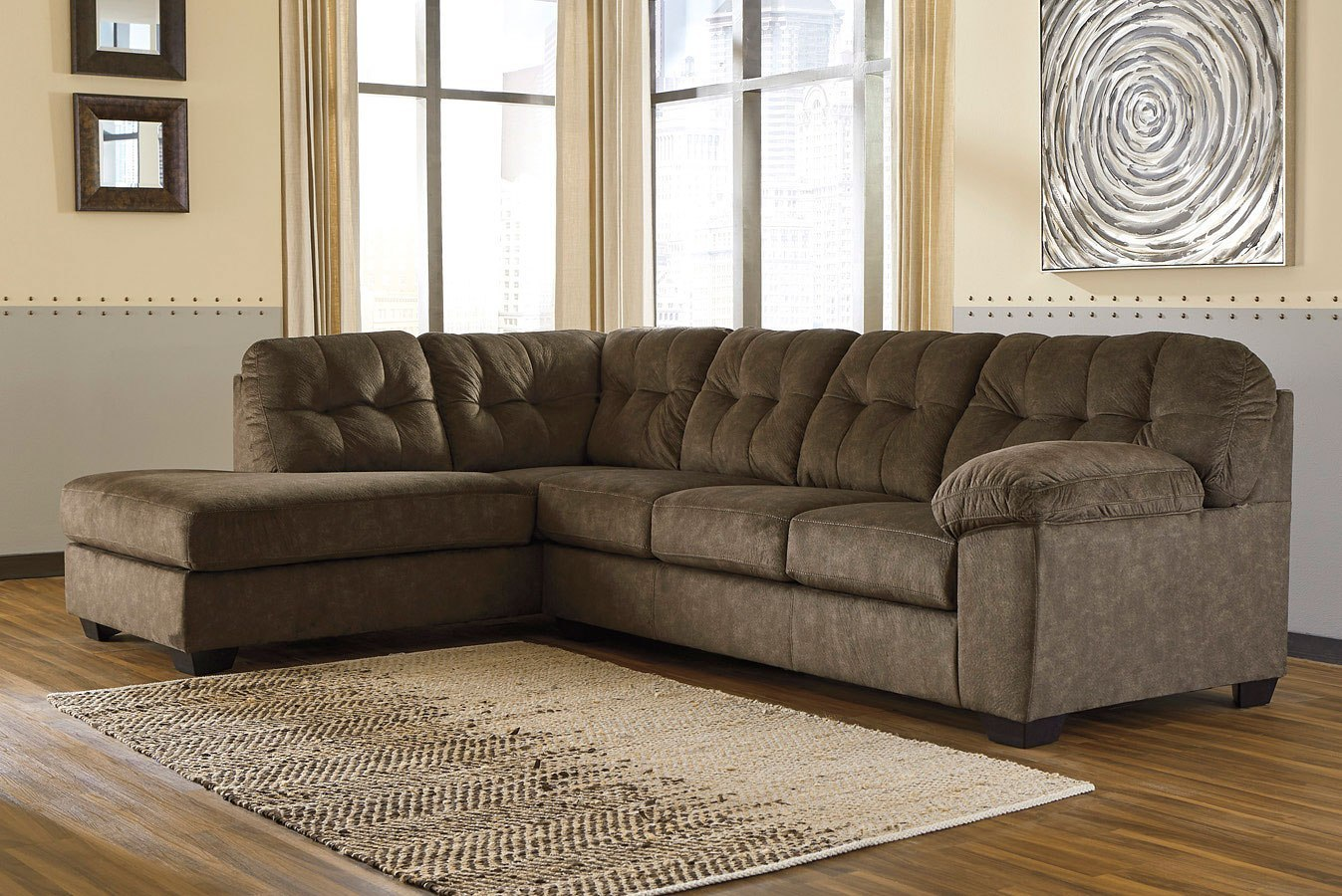 Accrington Earth Sectional Set By Signature Design By