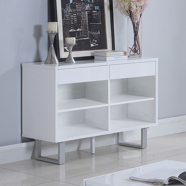Glossy White Sofa Table