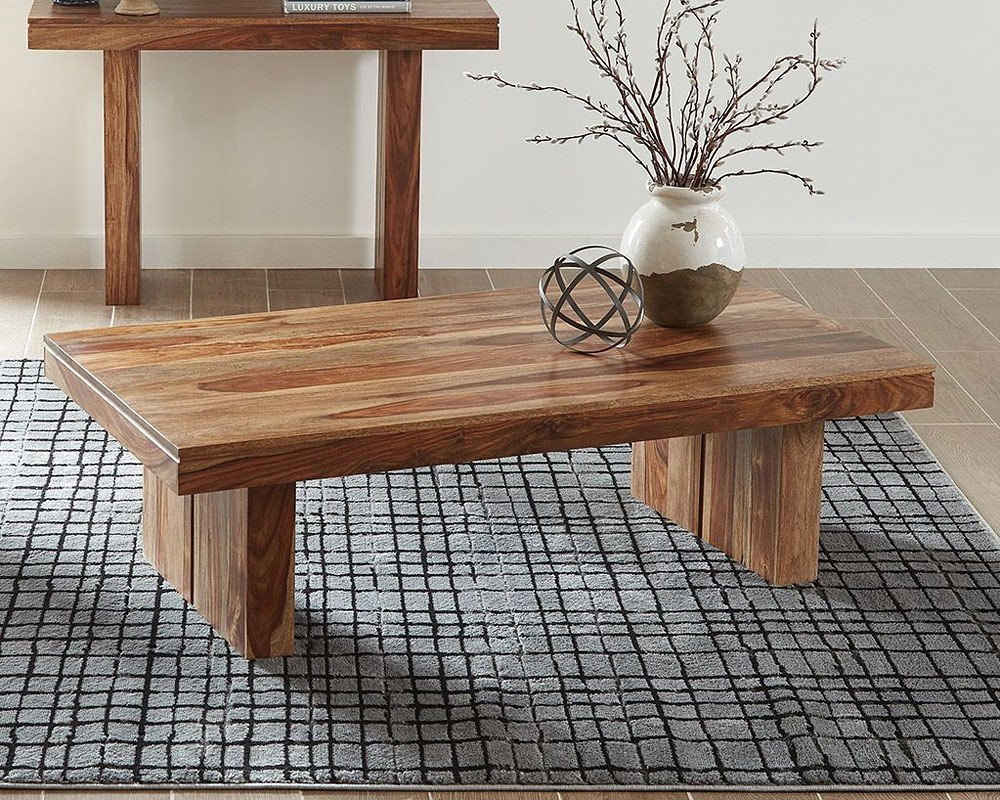 Solid Sheesham Coffee Table By Coaster Furniture