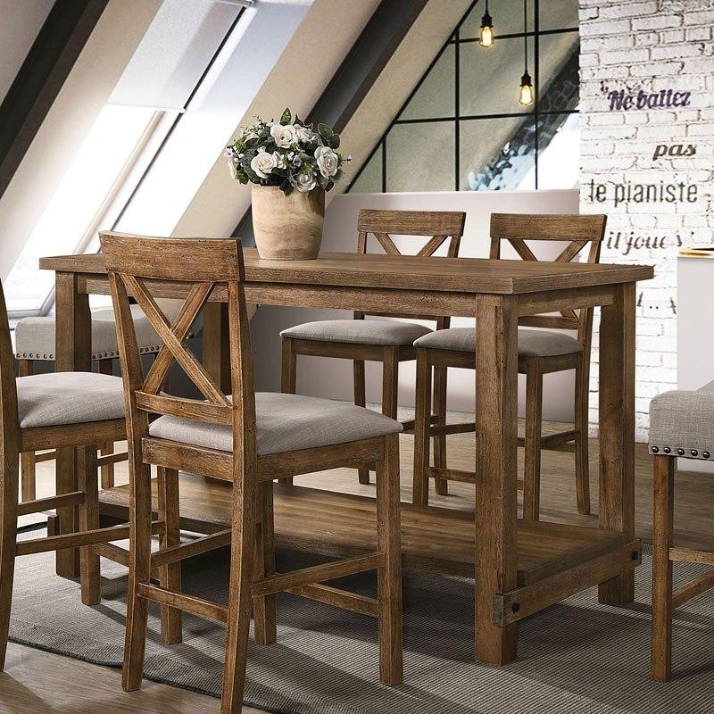 Martha Ii Counter Height Table Weathered Oak By Acme Furniture Furniturepick