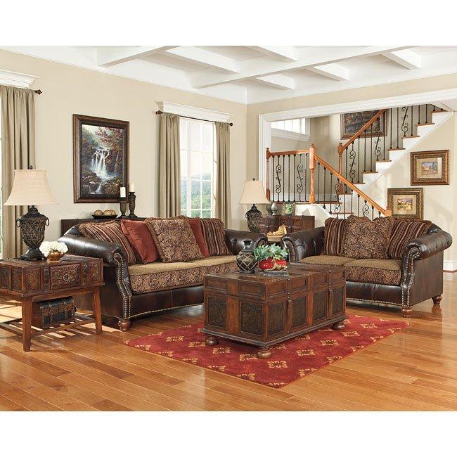 Pine Brook Boulder Mountain Residence Living Room: Maddielynn Square Auburn Living Room Set By Benchcraft
