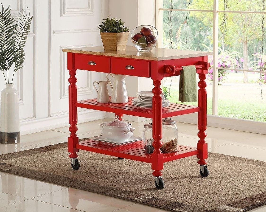 Payson Kitchen Cart (Red)