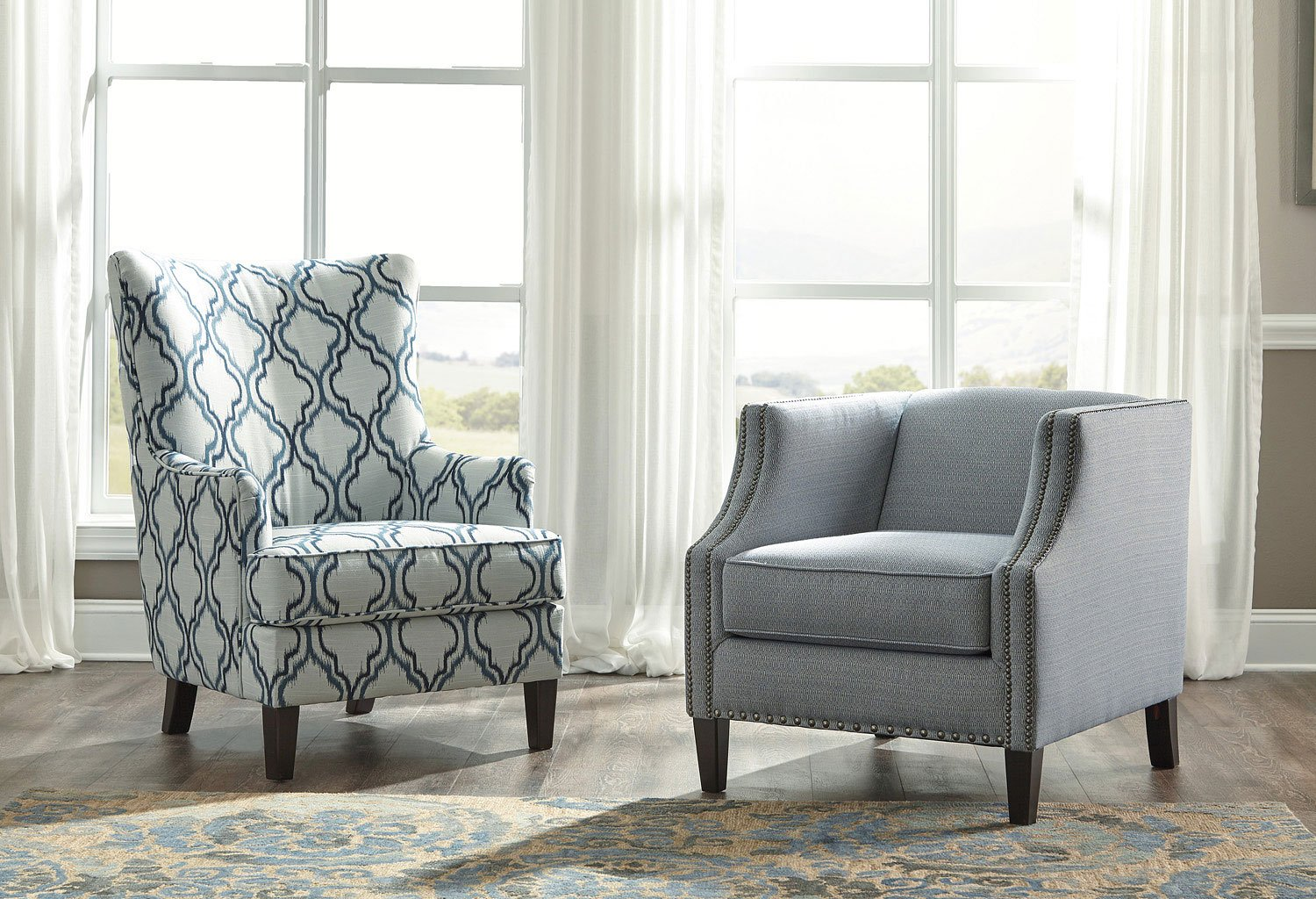 Lavernia Indigo Accent Chair By Benchcraft 1 Review S
