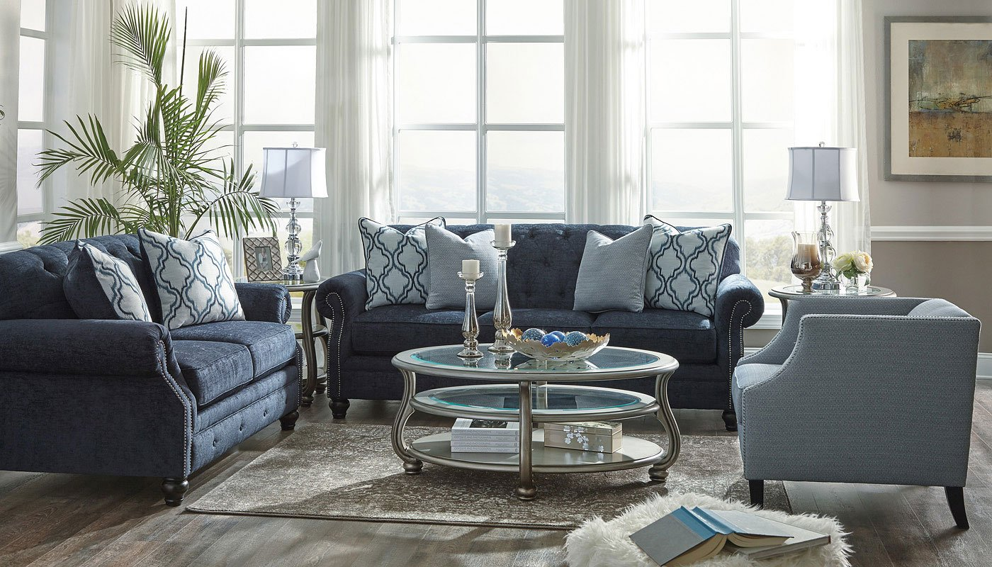 Lavernia Navy Living Room Set By Benchcraft 2 Review S