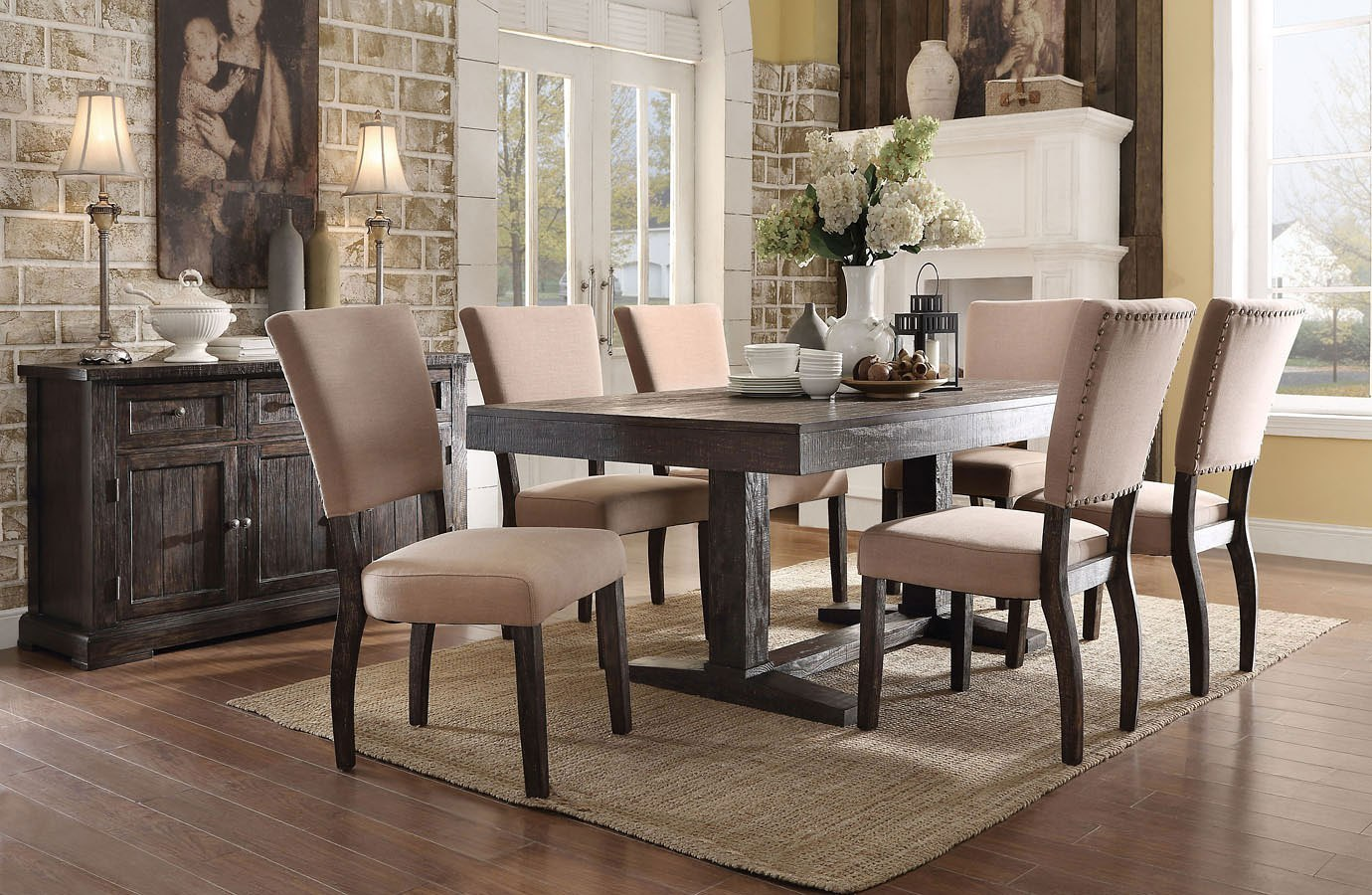 Dining Room Set With Extension eliana extension dining room set - dining room and kitchen furniture