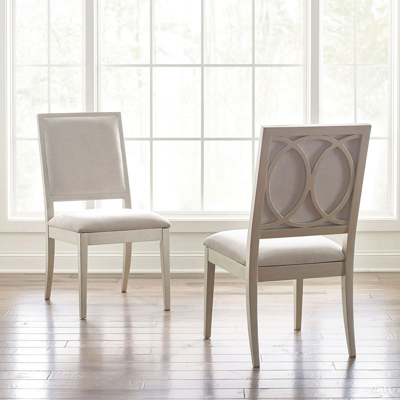 1 X Cinema Oval Dining Table; Cinema Upholstered Side Chair (Silver Screen)  (Set Of 2)