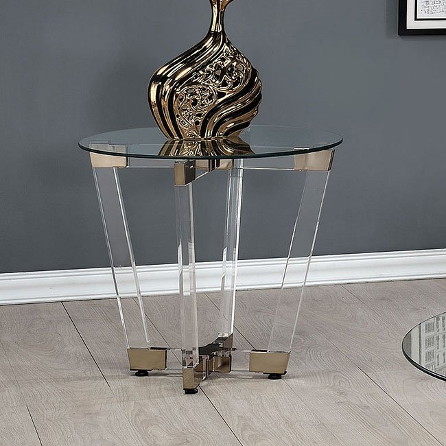 Clear Acrylic Occasional Table Set By Coaster Furniture
