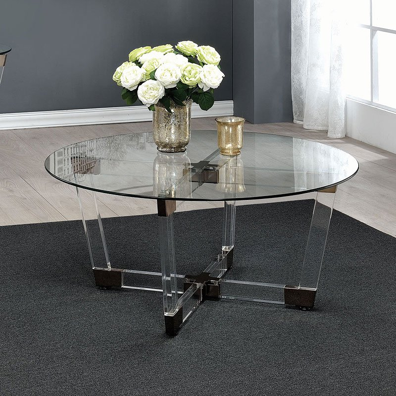 Clear Acrylic Coffee Table By Coaster Furniture