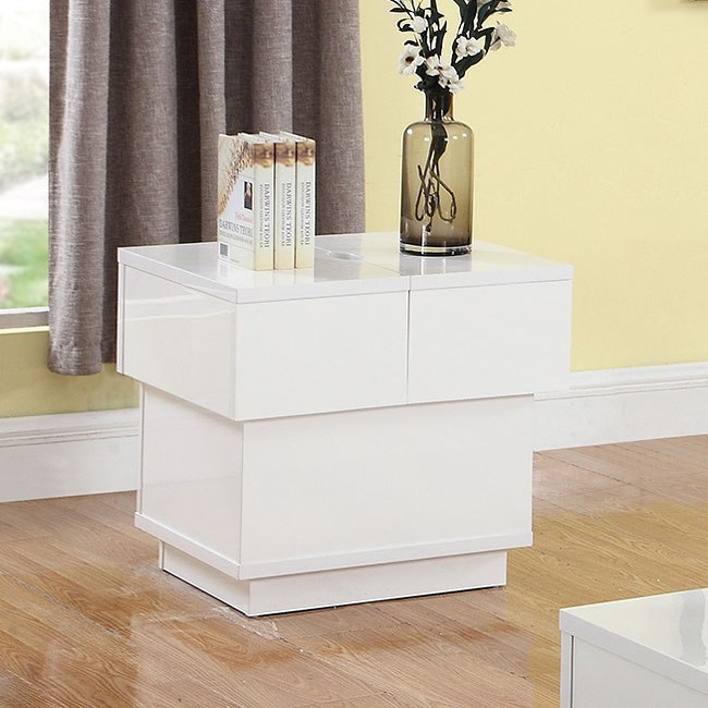 White 4 Chair Dining Set