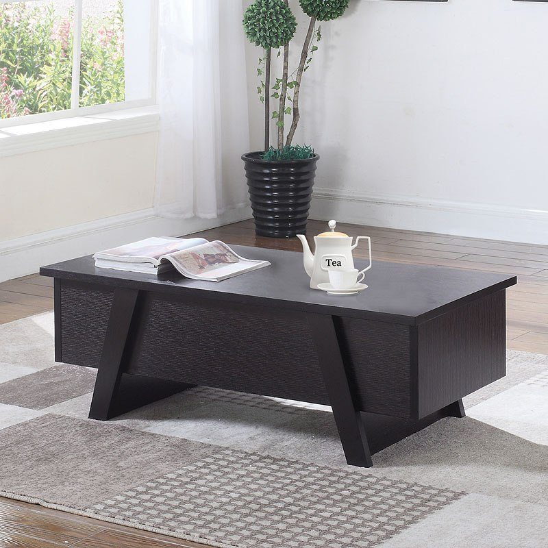 Coffee Table Angled Legs: Cappuccino Lift Top Coffee Table W/ Angled Legs By Coaster