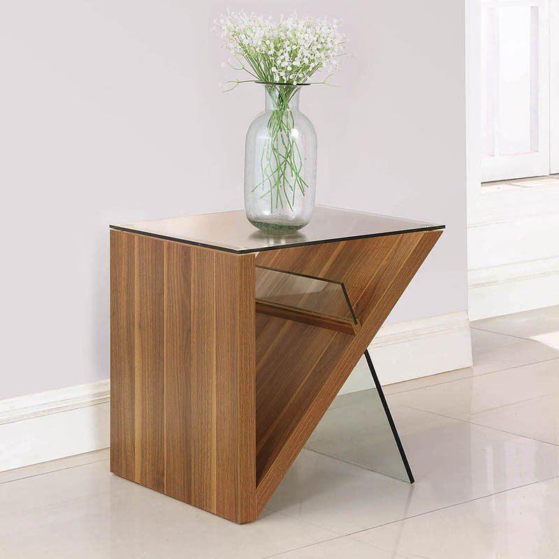 Light Walnut Wood Caleb Accent Table: Light Walnut Occasional Table Set By Coaster Furniture