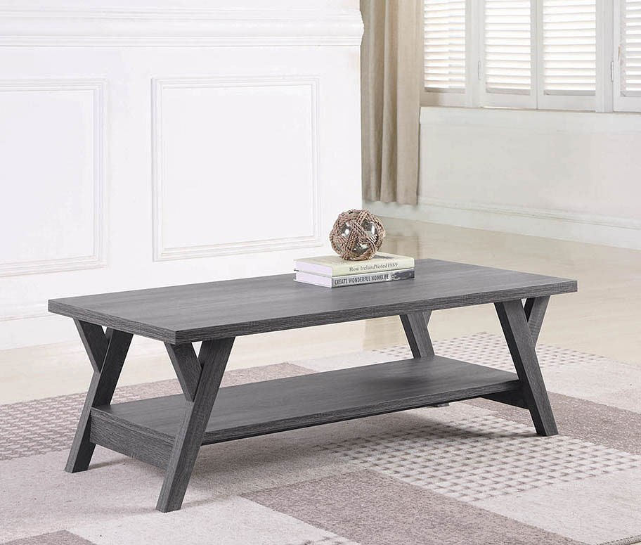 Distressed Grey Coffee Table By Coaster Furniture