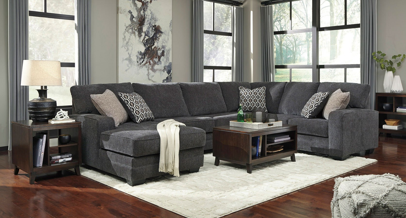 Tracling Slate Modular Sectional Set By Benchcraft 1