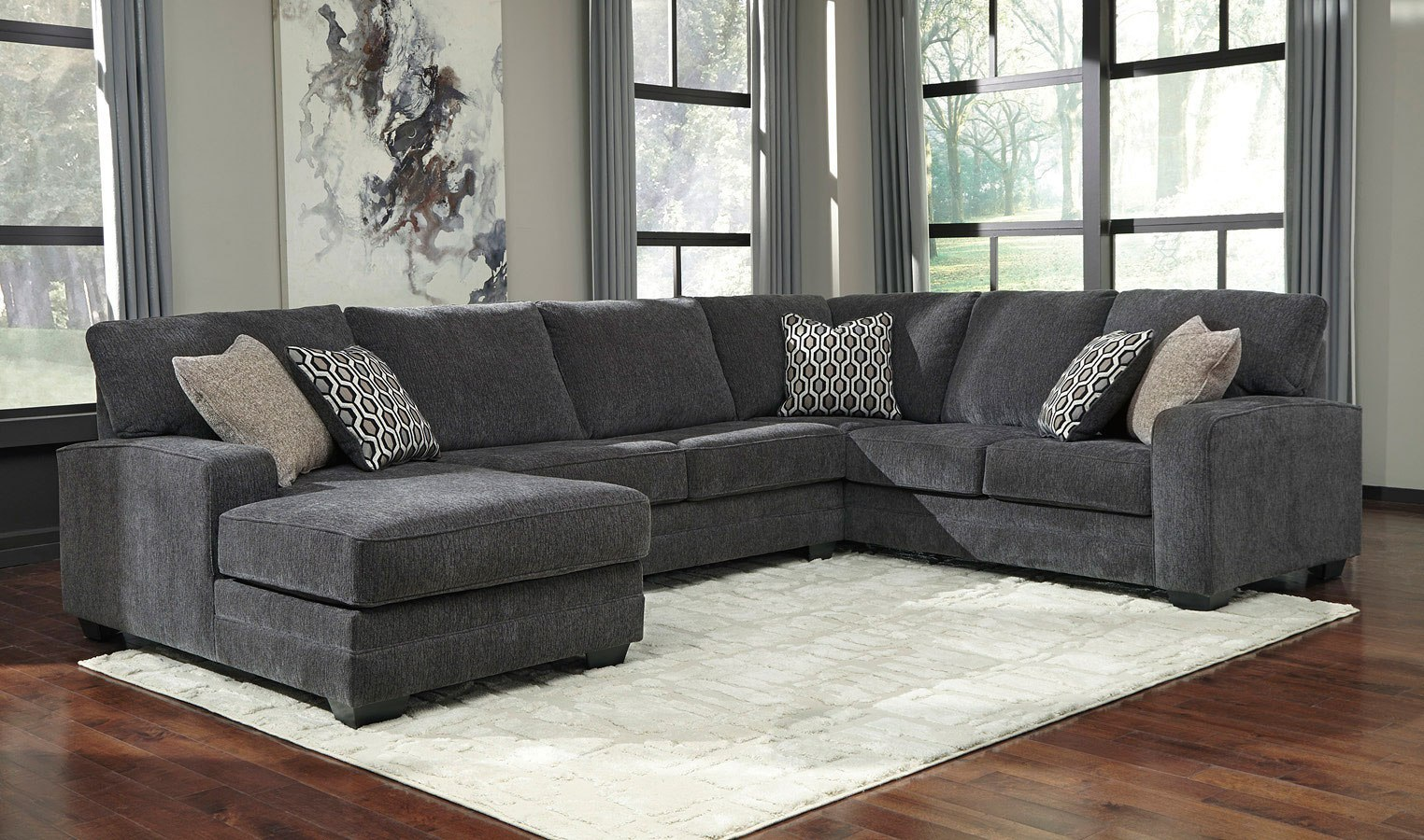 Tracling Slate Modular Sectional By Benchcraft Furniturepick