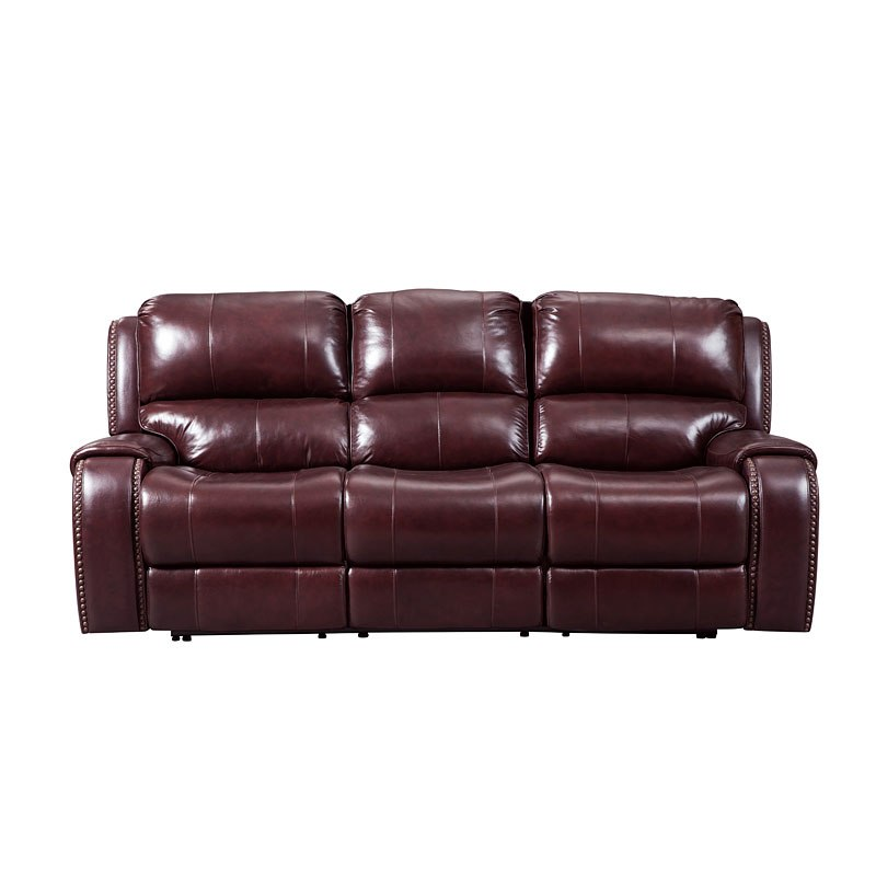 Gilmanton Burgundy Power Reclining Sofa w/ Adjustable Headrest by ...