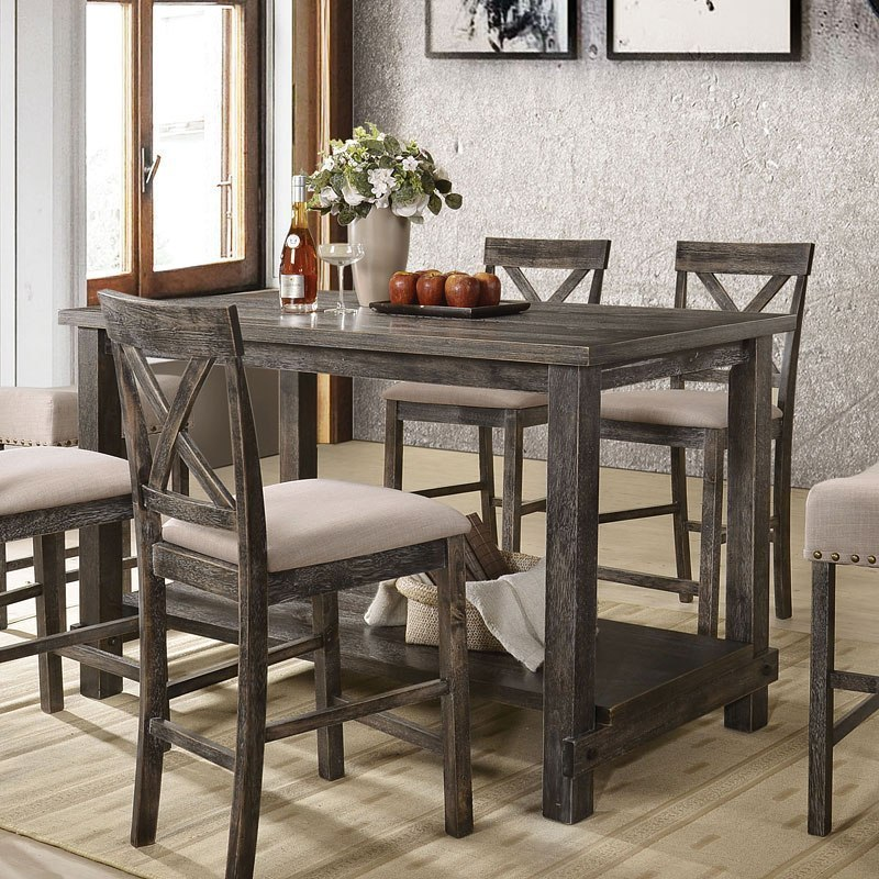 Martha Ii Counter Height Table Weathered Gray