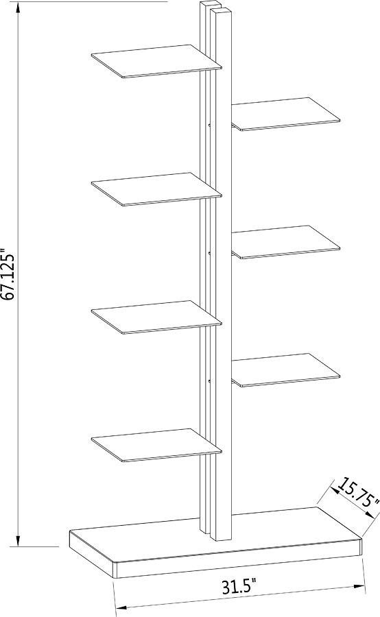 Gloss White Bookshelf W Clear Gl Shelves