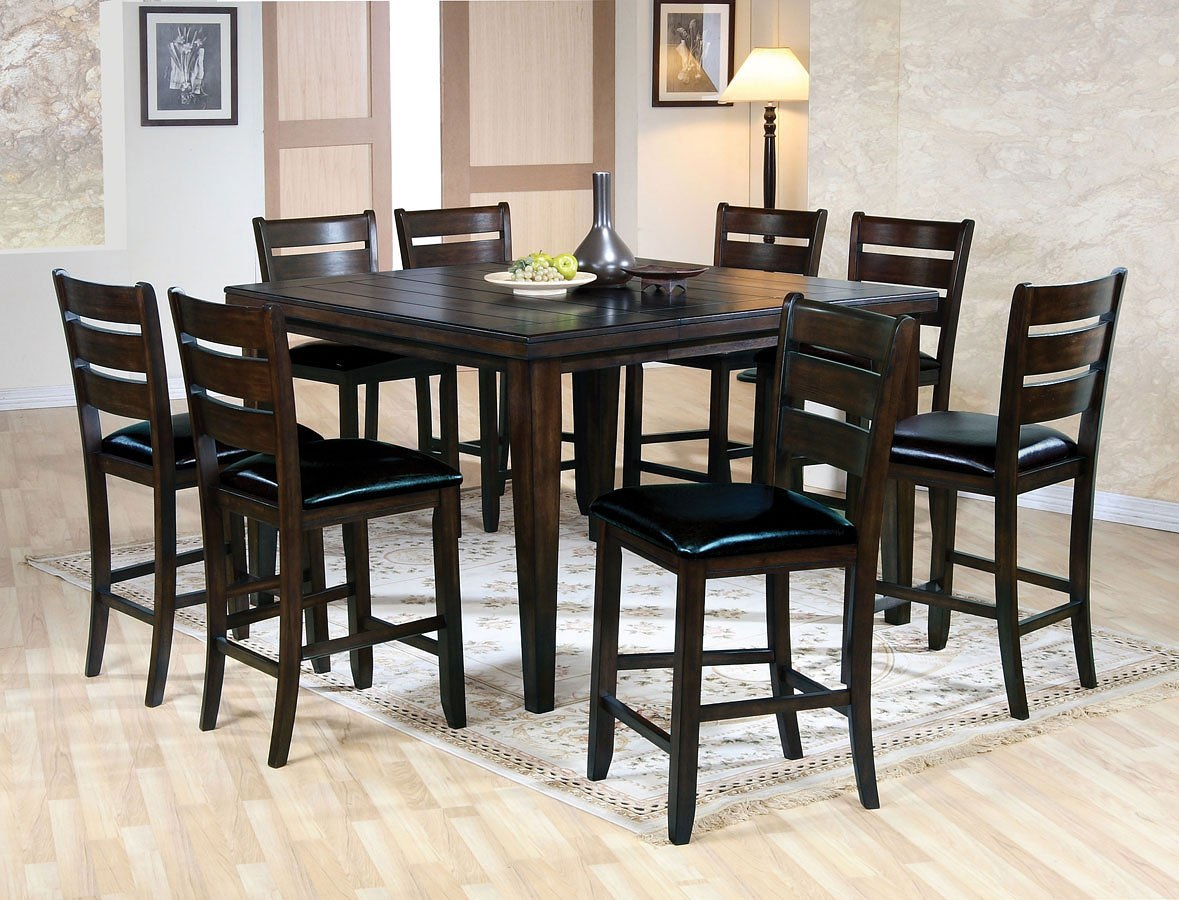Urbana Counter Height Dining Room Set Espresso By Acme Furniture