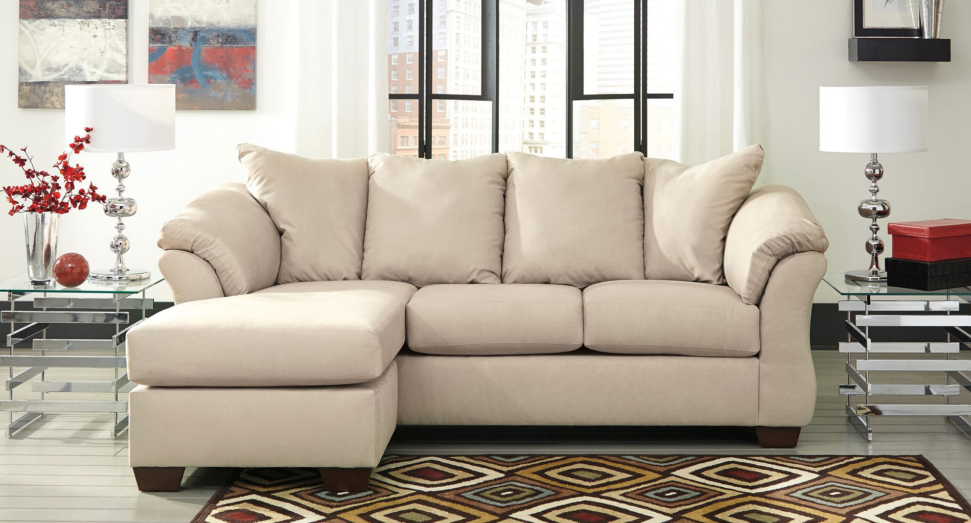 Darcy Stone Sofa Chaise Set By Signature Design By Ashley