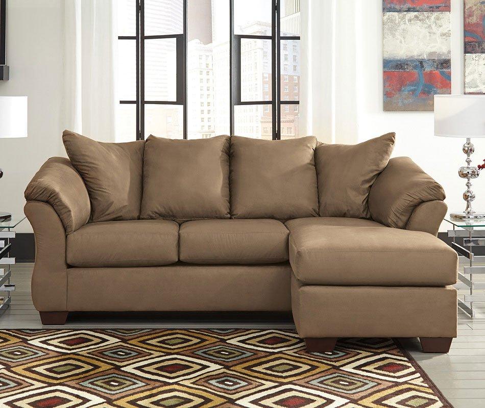 Darcy Mocha Sofa Chaise Sofas Living Room Furniture
