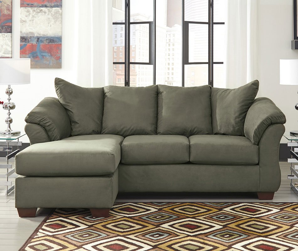 Ashley Furniture Darcy Sage Chair: Darcy Sage Sofa Chaise By Signature Design By Ashley
