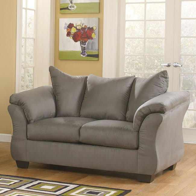 Darcy Cobblestone Loveseat By Signature Design By Ashley