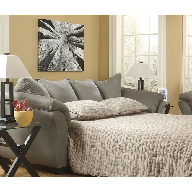 Darcy Cobblestone Living Room Set By Signature Design By