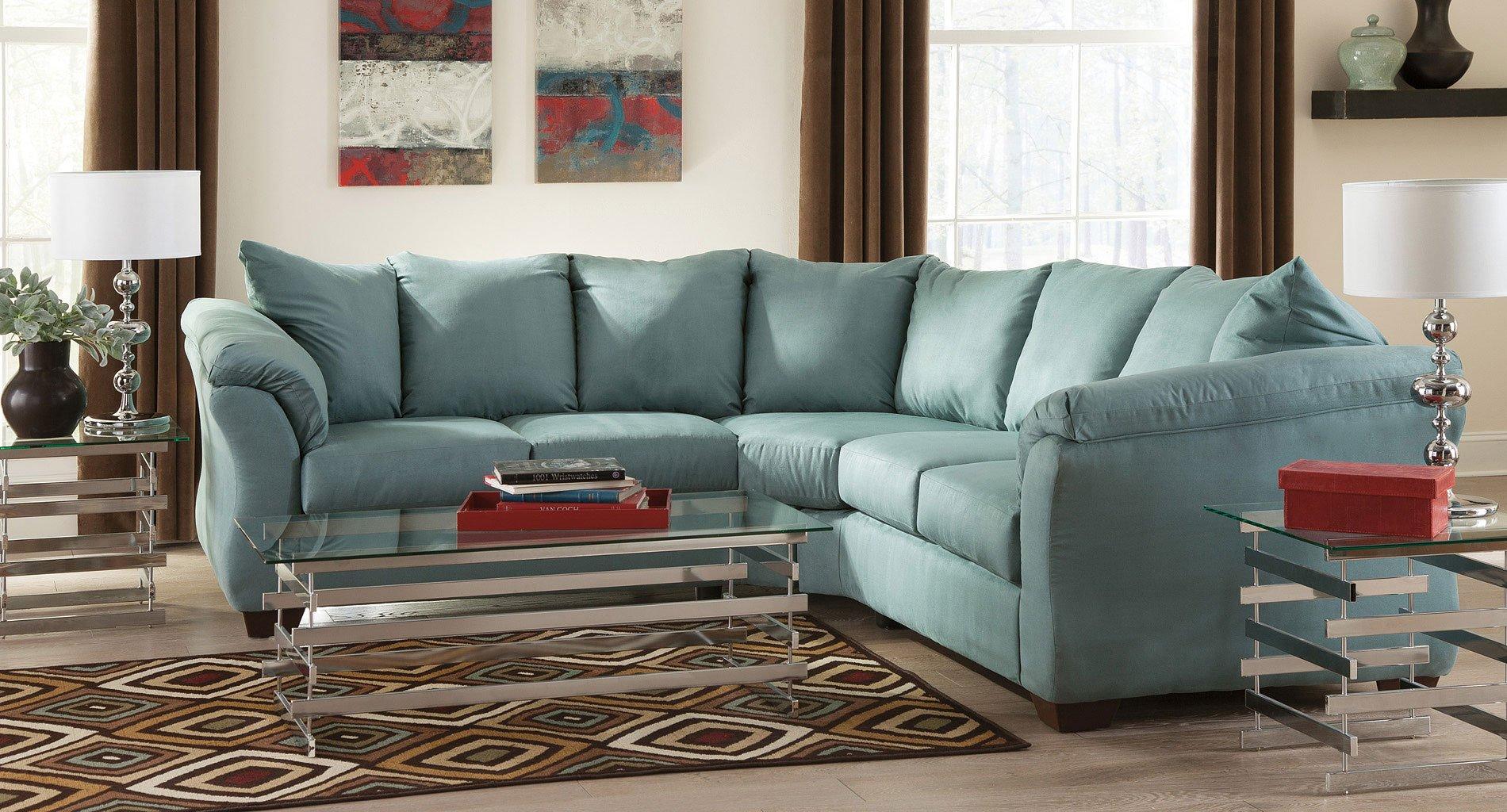 darcy sky sectional living room set by signature design by ashley furniturepick. Black Bedroom Furniture Sets. Home Design Ideas