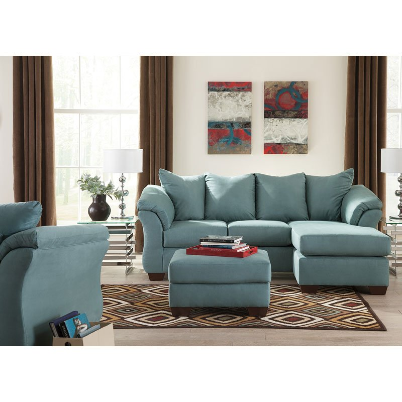 Darcy sky sofa chaise living room set by signature - Living room sets with chaise lounge ...
