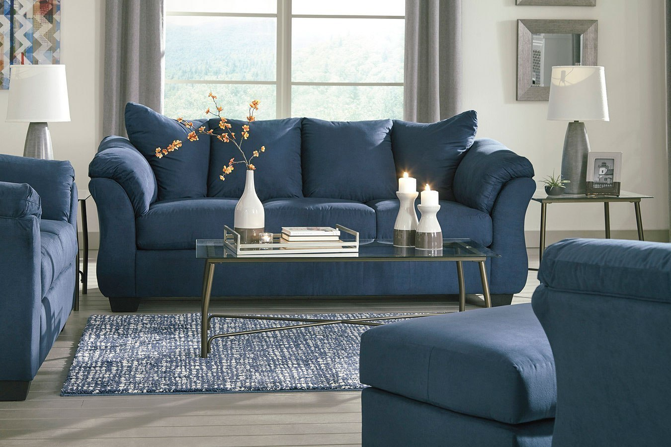 Darcy Blue Living Room Set by Signature Design by Ashley | FurniturePick