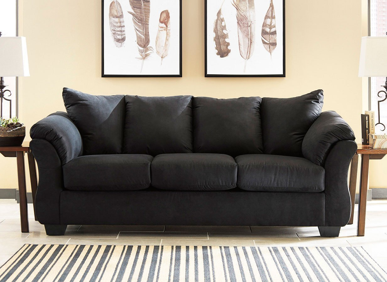 Darcy Black Sofa By Signature Design Ashley 1 Reviews Furniturepick