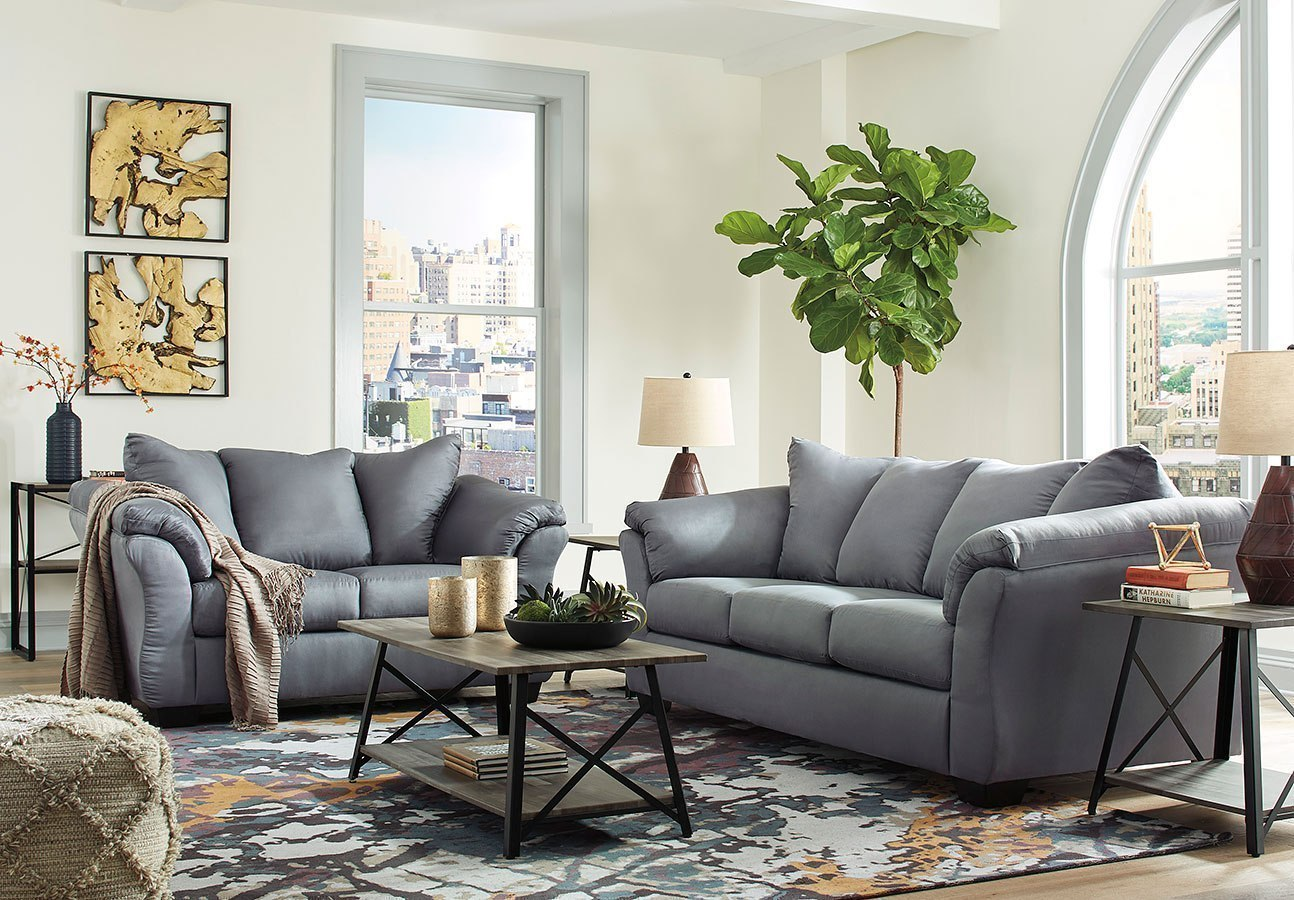 Darcy Steel Living Room Set By Signature Design By Ashley