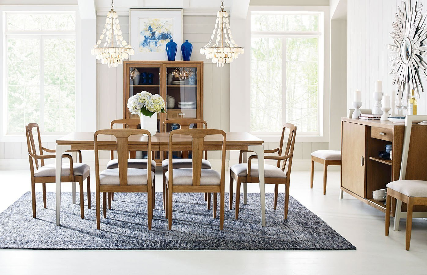 Hygge Leg Dining Room Set w/ Splat Back Chairs by Rachael ...