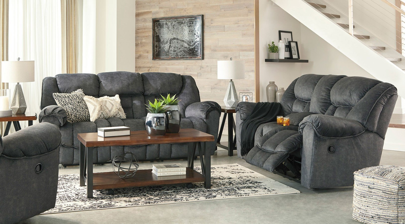 Capehorn Granite Reclining Living Room Set By Signature Design By
