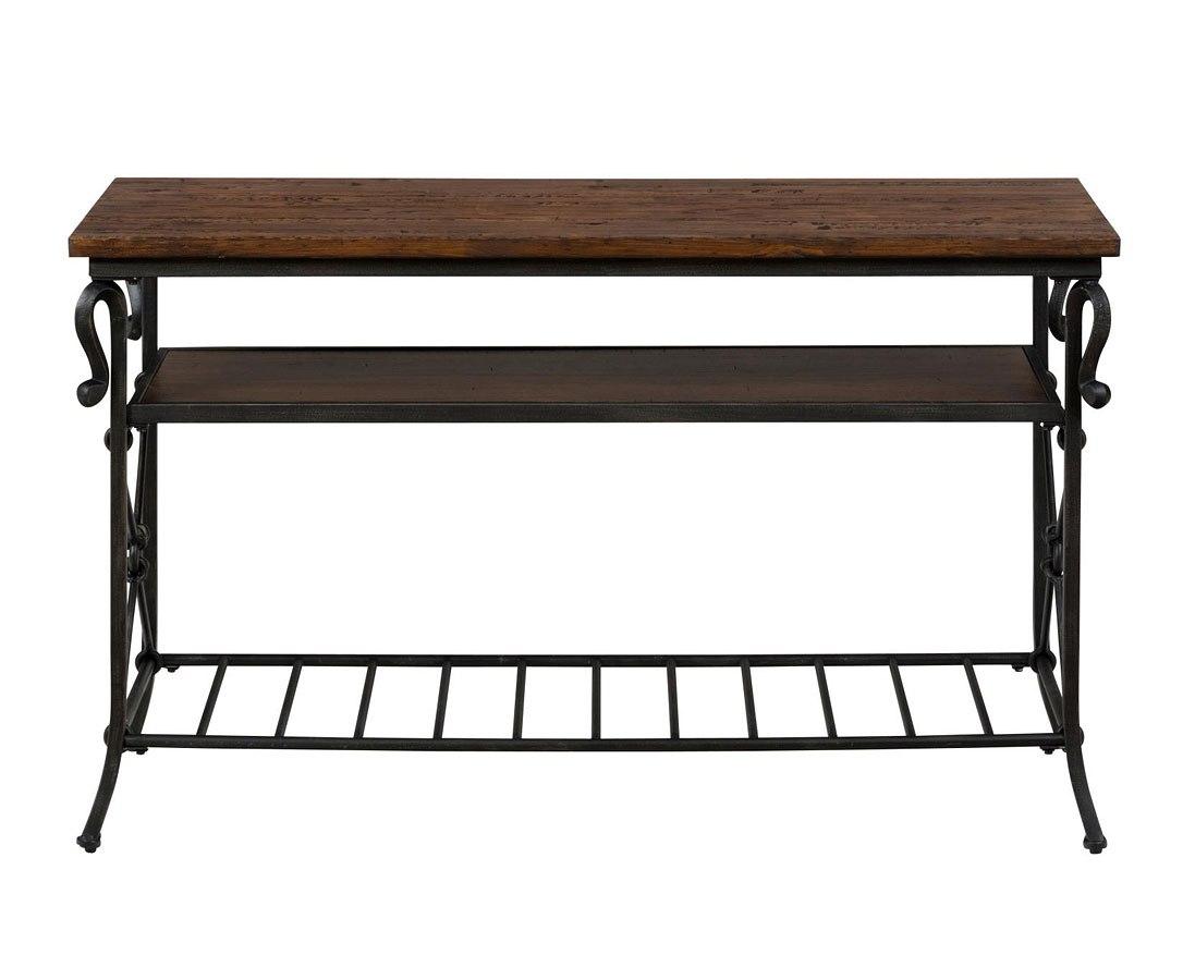 Rutledge Pine Sofa/ Media Table by Jofran Furniture | FurniturePick