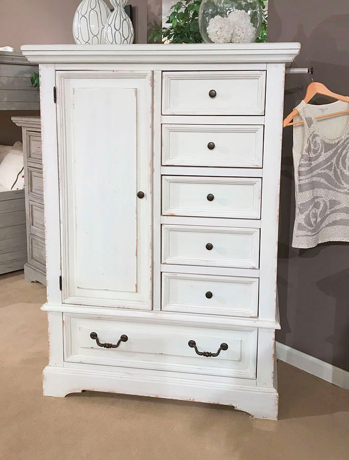 Stonebrook Panel Bedroom Set Antique White By American