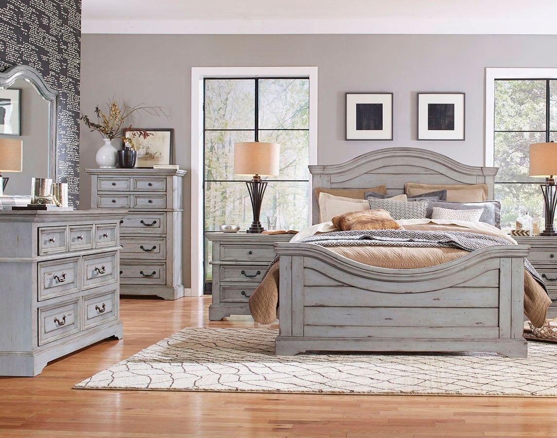 Stonebrook bedroom set antique gray bedroom furniture bedroom for Antique grey bedroom furniture