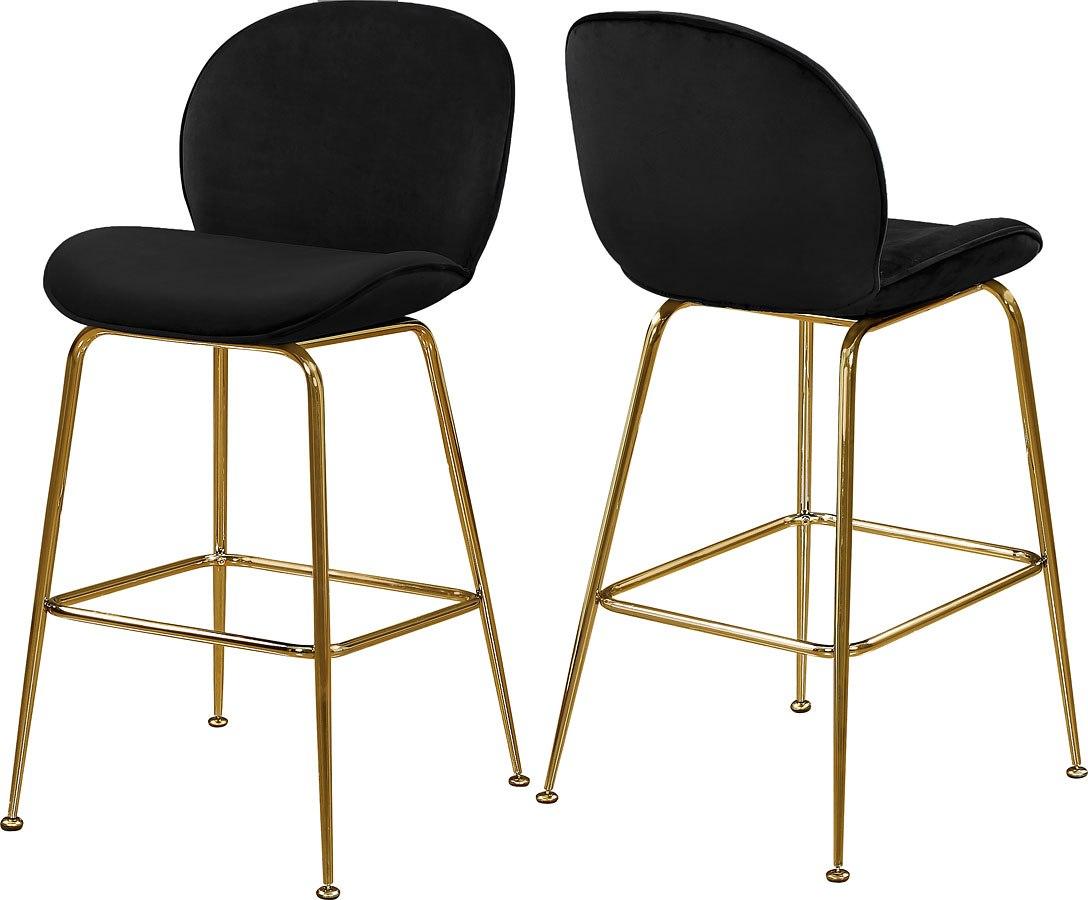 Tremendous Paris Counter Height Stool Black Gold Set Of 2 Unemploymentrelief Wooden Chair Designs For Living Room Unemploymentrelieforg