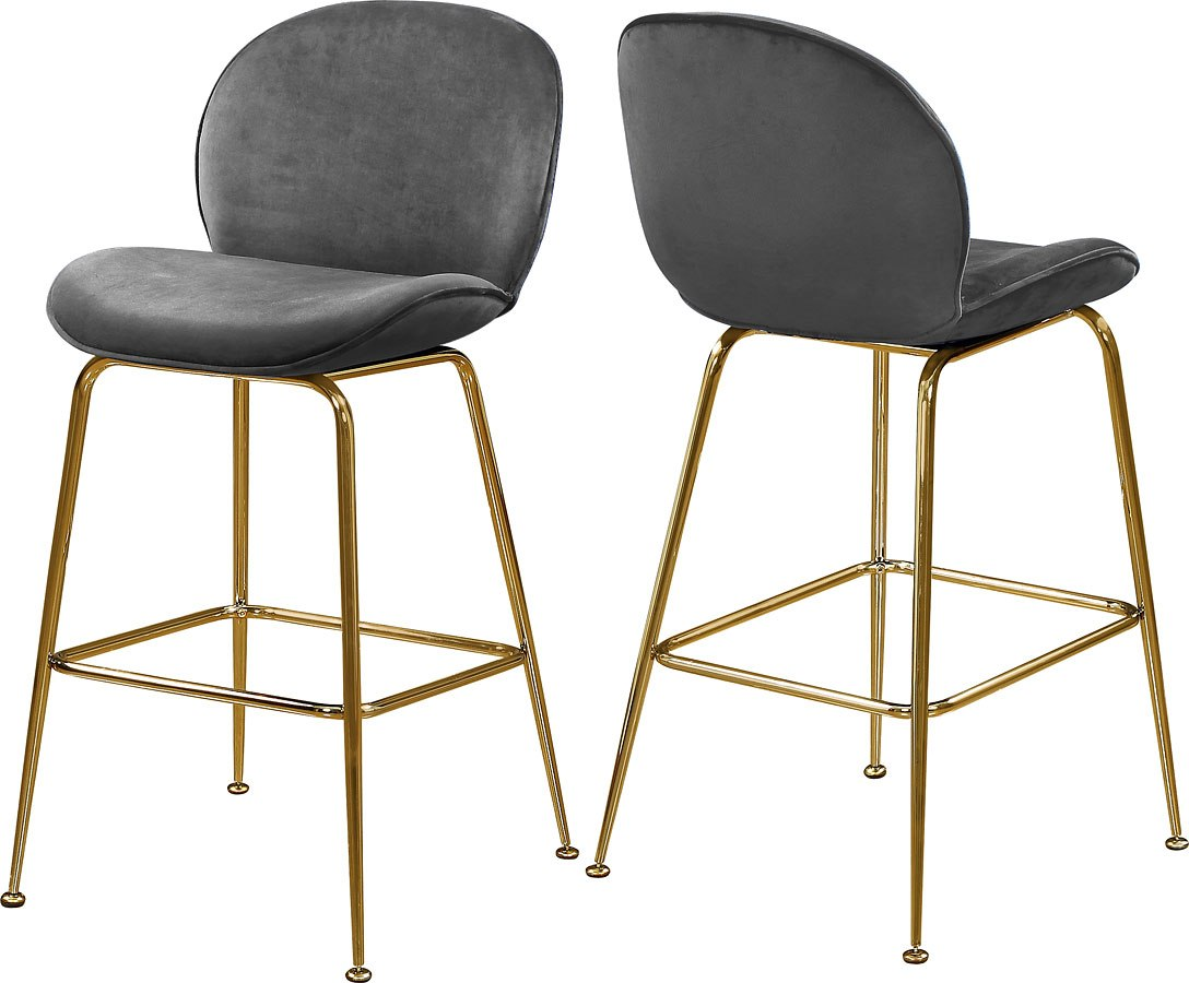Paris Counter Height Stool Grey Gold Set Of 2 By